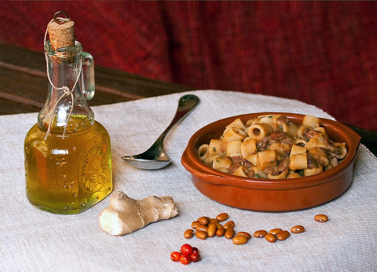 Pasta e fagioli con zenzero in tajine