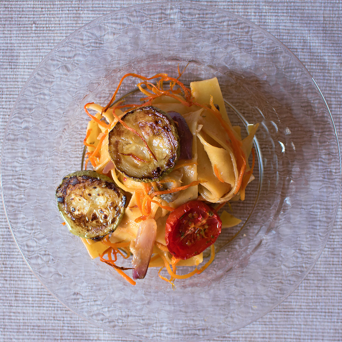 Pappardelle con ragù di verdure