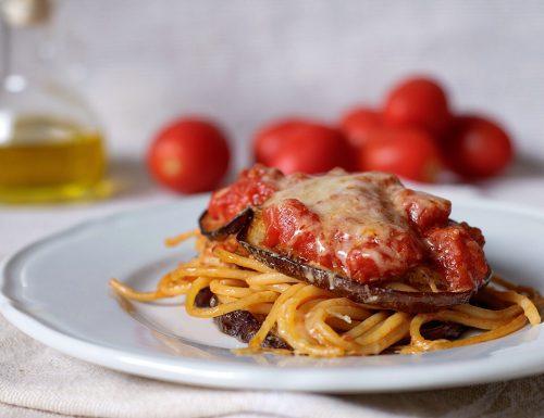 Spaghetti alla norma gratinati al forno