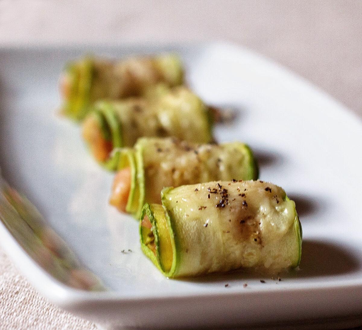 Involtini di zucchine con gamberetti