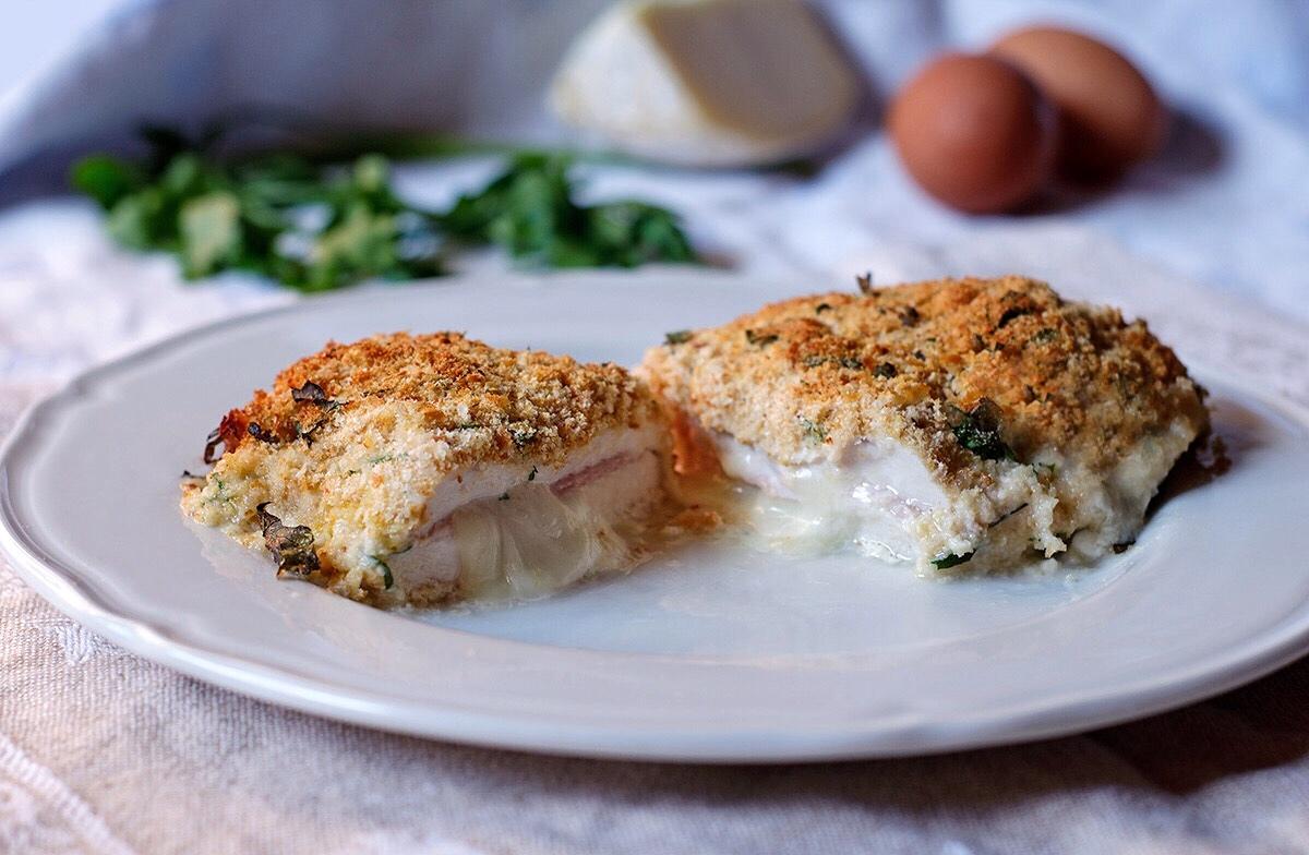 Cordon bleu di pollo al forno