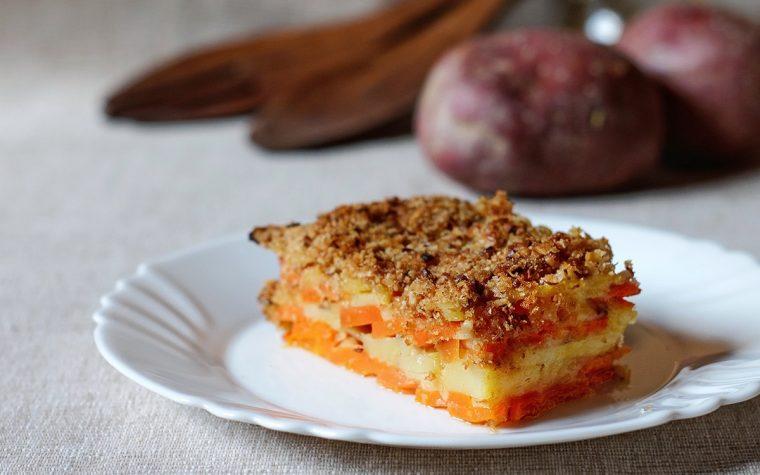 Tortiera di carote e patate