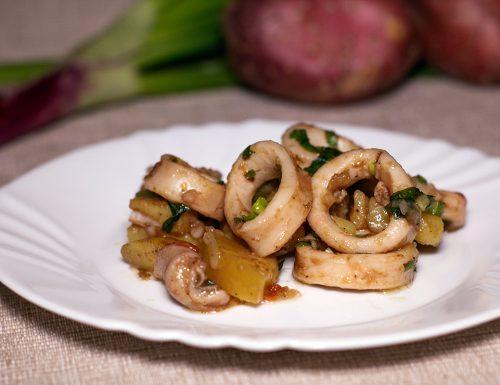 Insalata di calamari e patate