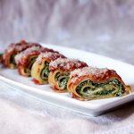 Rotolini di lasagne con ricotta ed erbette