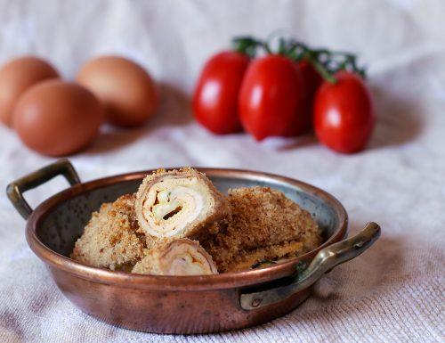 Involtini di pollo con zucchine giuncata e frittatina