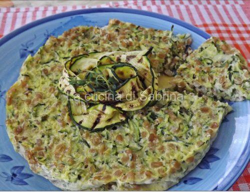 Torta di farro e zucchine (very light)
