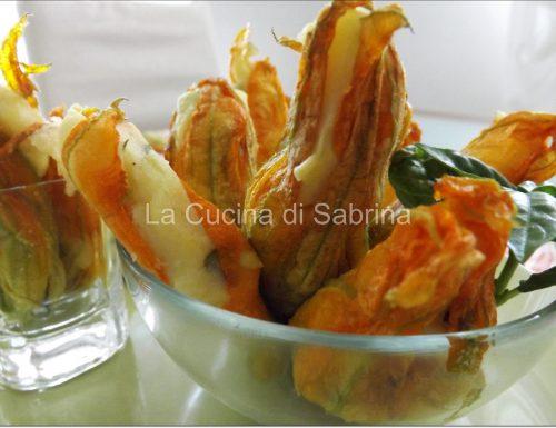 Fiori di zucca ripieni di patate