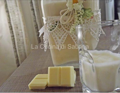 Liquore al cioccolato bianco e vaniglia