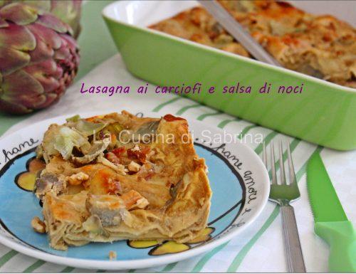 Lasagna ai carciofi e noci