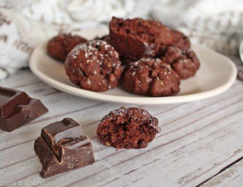 Biscotti cioccolatosi allo yogurt