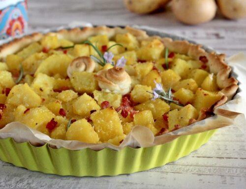Torta rustica con patate e speck