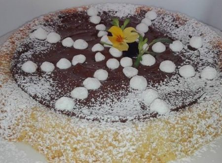 Crostata al cioccolato e meringhe