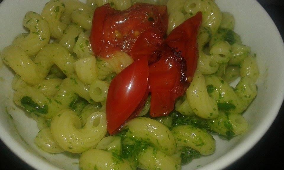 Succhietti al pesto di Rucola e pomodorini