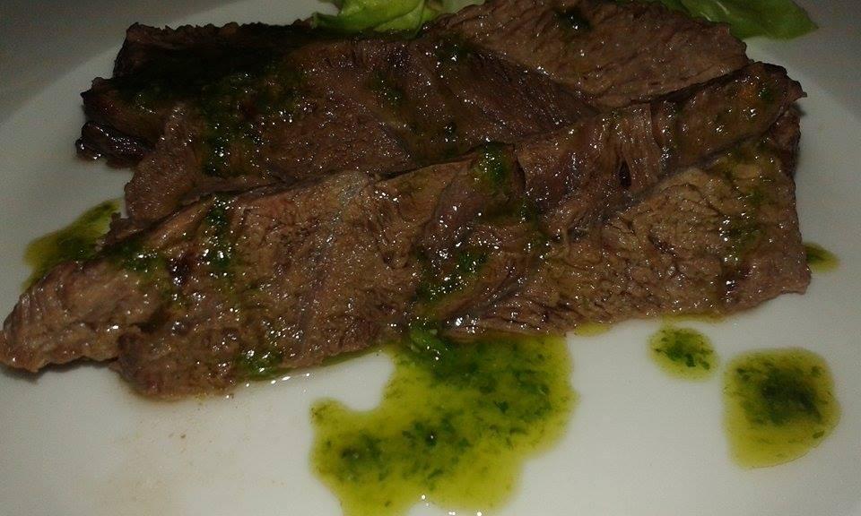 Carne lessa con Salsa verde