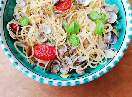 Spaghetti con lupini e pomodorini confit