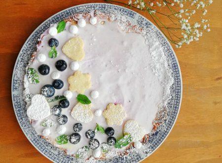 Crostata con Crema di Ricotta e Mirtilli