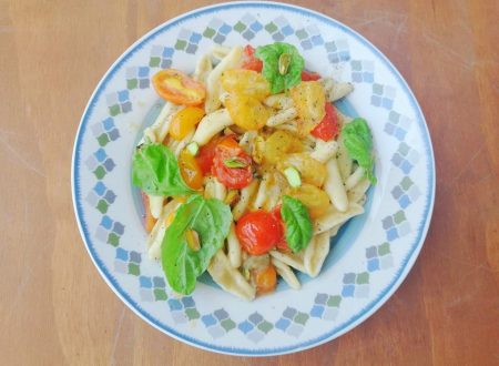 Cortecce con Crema di Melanzana e Pomodori freschi