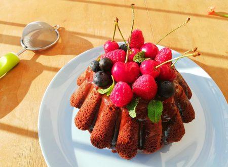 Torta al Cioccolato con glassa e Frutta^_^