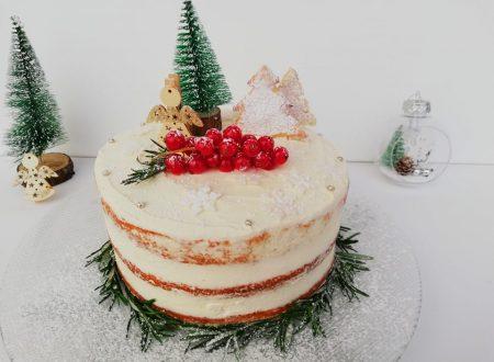 Naked cake natalizia