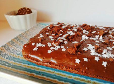 Torta al cacao e cioccolato con crema Pan di Stelle