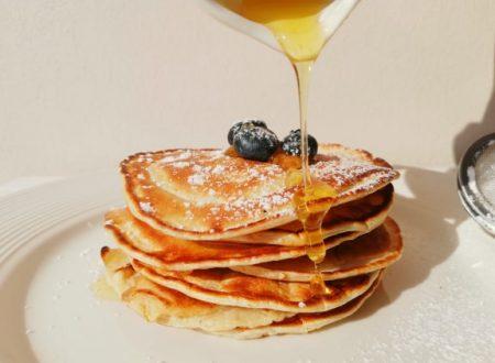 Pancakes con farina di avena ed albumi