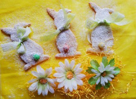 Coniglietti pasquali di pasta frolla