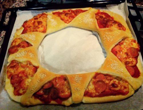 Pizza a forma di Fiore