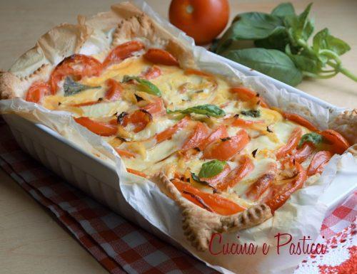 Torta salata pomodori e mozzarella