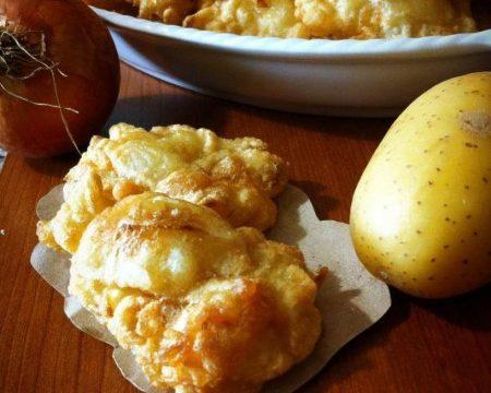 Frittelle di cipolle e patate