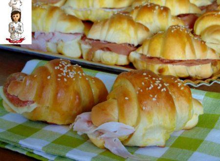Cornetti di pan brioche salati
