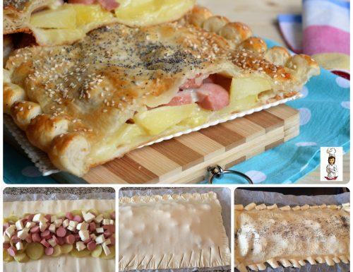 Rustico con patate e würstel