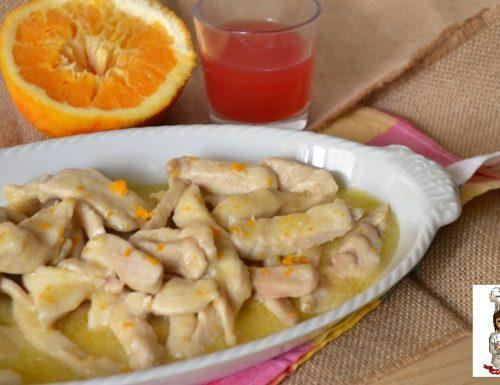Straccetti di pollo all' arancia