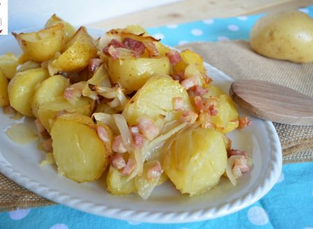 Patate novelle con cipolla e pancetta
