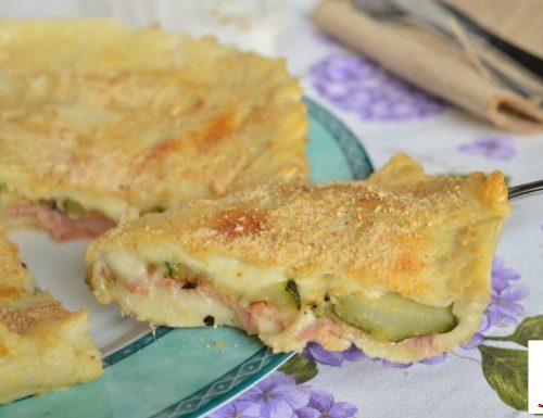 Torta sofficina con zucchine e prosciutto