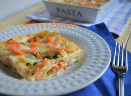 Lasagne con salmone e gamberetti