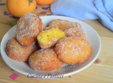 Frittelle di ricotta e arancia