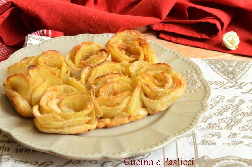 Torta salata di rose di patate