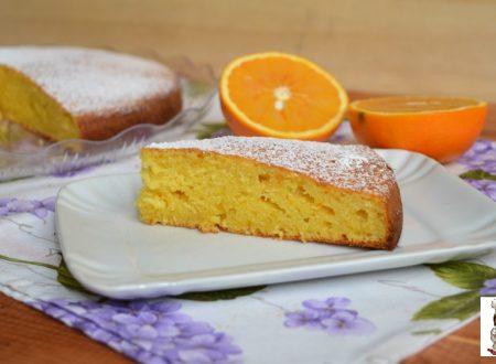 Torta di ricotta arancia e zafferano