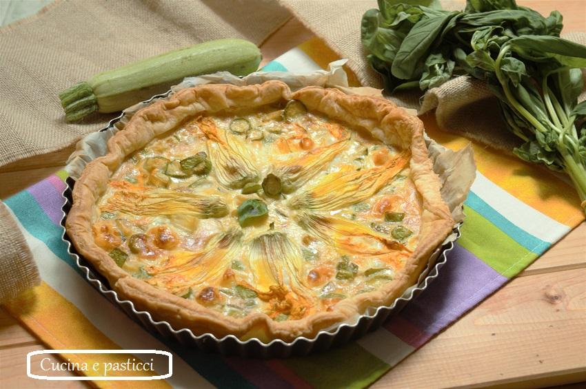 Fiori Salati Giallo Zafferano.Torta Salata Con Fiori Di Zucca E Primo Sale