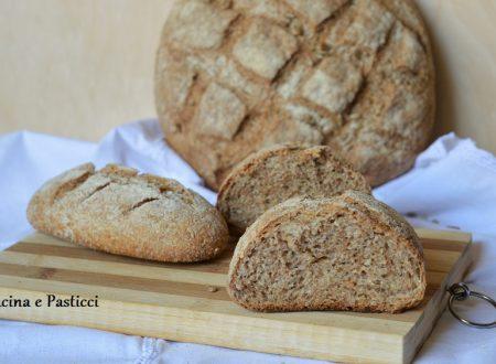 Pane con farina integrale e semola