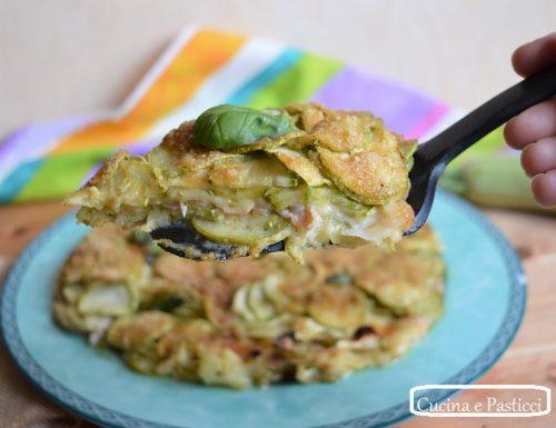 Torta salata di zucchine senza uova