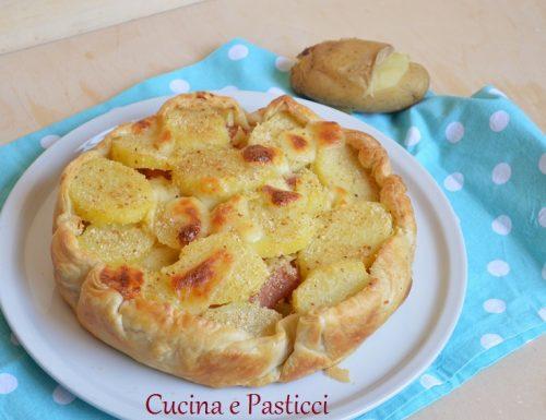 Torta rustica di patate e würstel