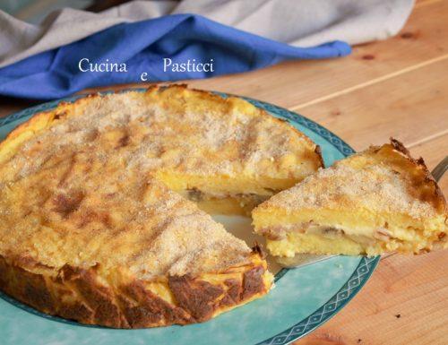 Torta di patate e funghi