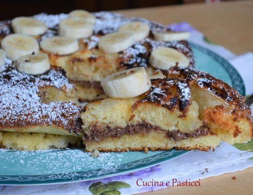 Torta bananosa cotta in padella con nutella