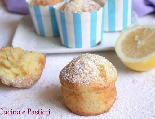 Muffin con ricotta e limone