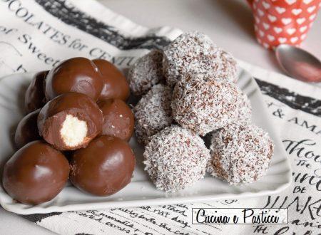 Tartufi al mascarpone cocco e cioccolato