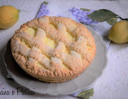 Crostata con ricotta e limone