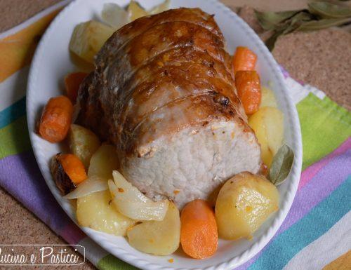 Lonza arrosto con verdure al forno