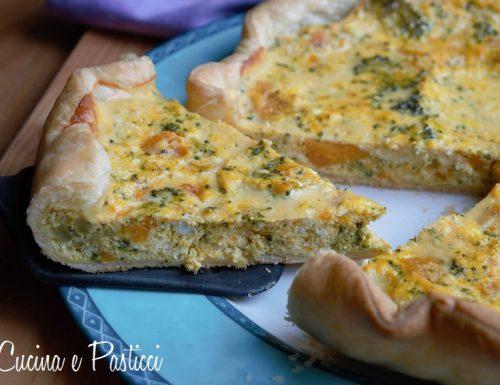 Torta salata con zucca e broccoli