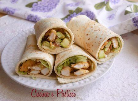 Piadine con pollo e zucchine
